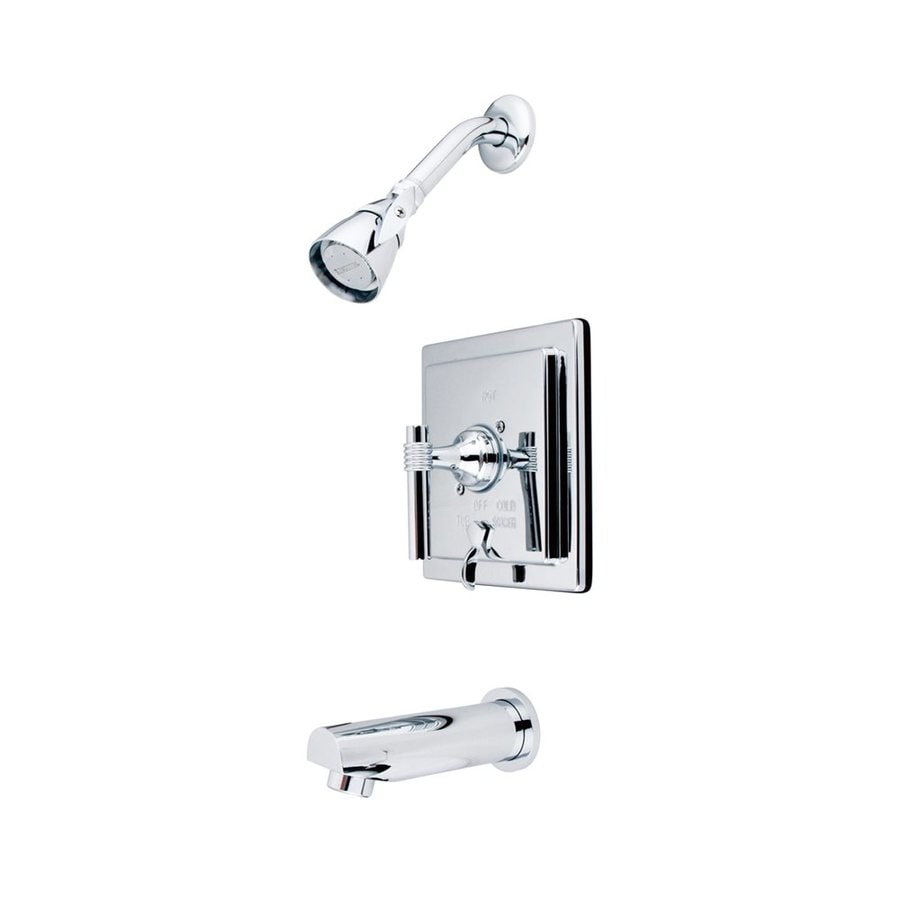 Elements of Design Manhattan Chrome 1-Handle Bathtub and Shower Faucet Trim Kit with Single Function Showerhead