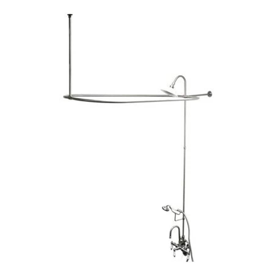 Elements of Design Vintage Chrome 2-Handle Bathtub and Shower Faucet with Multi-Head Showerhead