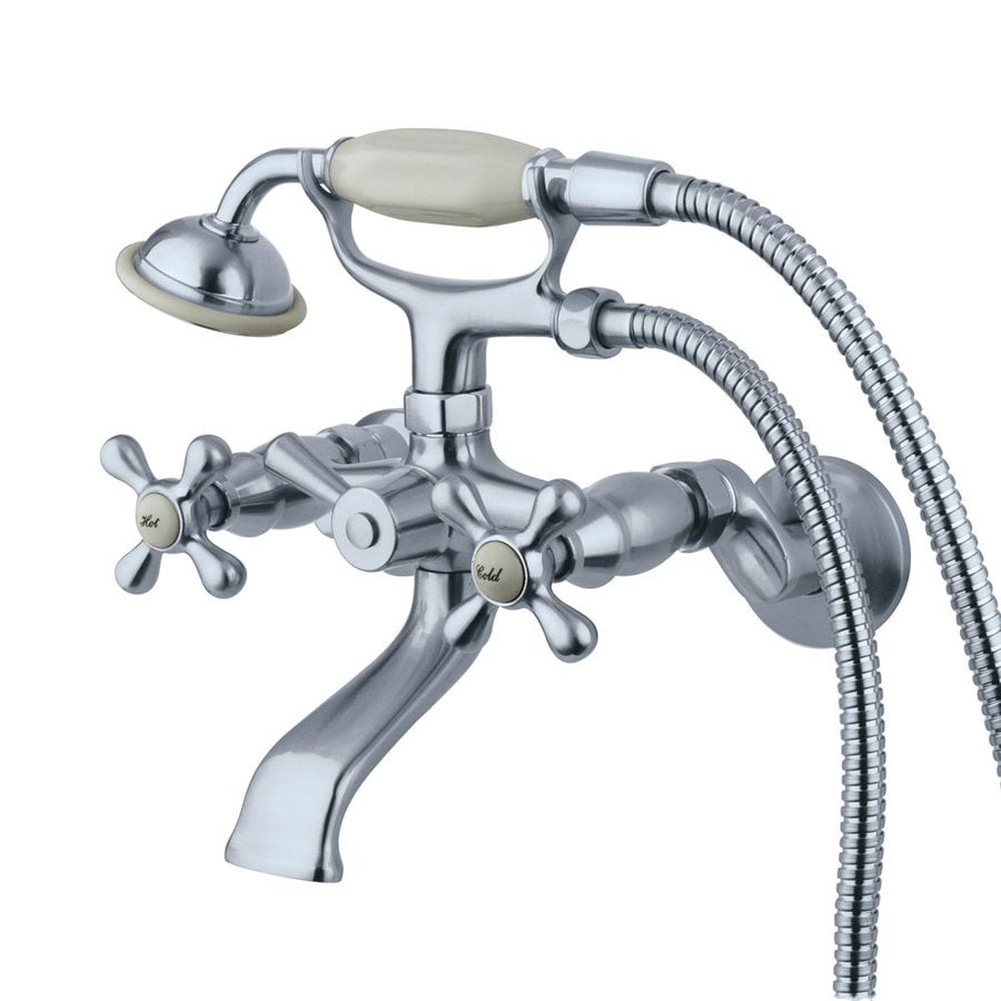 Elements of Design Chrome 2-Handle Bathtub and Shower Faucet Trim Kit with Handheld Showerhead
