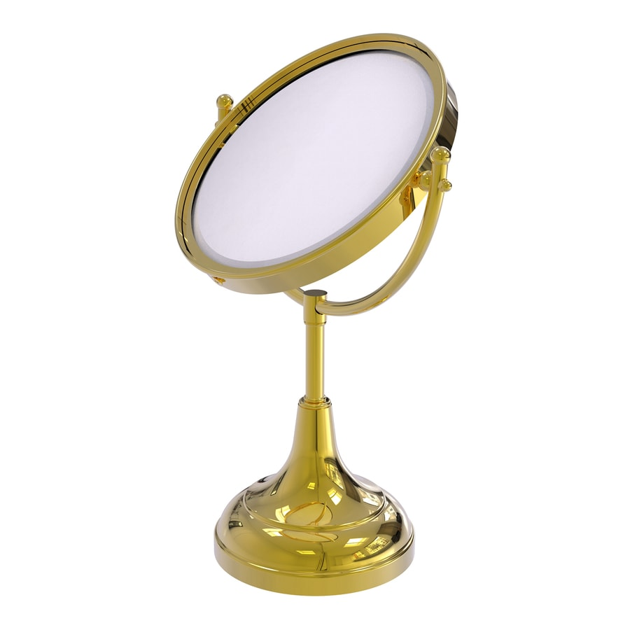 Allied Brass Polished Brass Magnifying Countertop Vanity Mirror