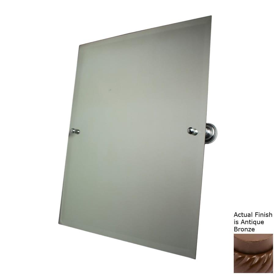 Allied Brass Dottingham 21-in W x 26-in H Rectangular Tilting Frameless Bathroom