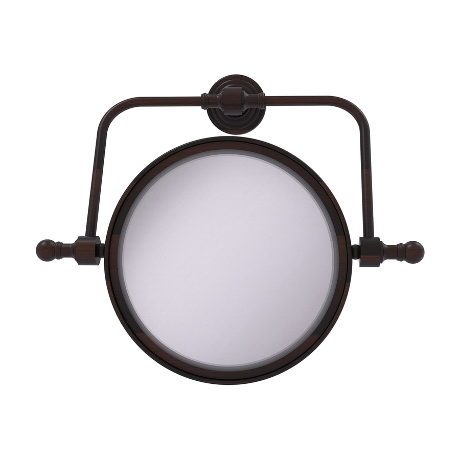 Allied Brass Retro-Wave Bronze Brass Magnifying Wall-Mounted Vanity Mirror
