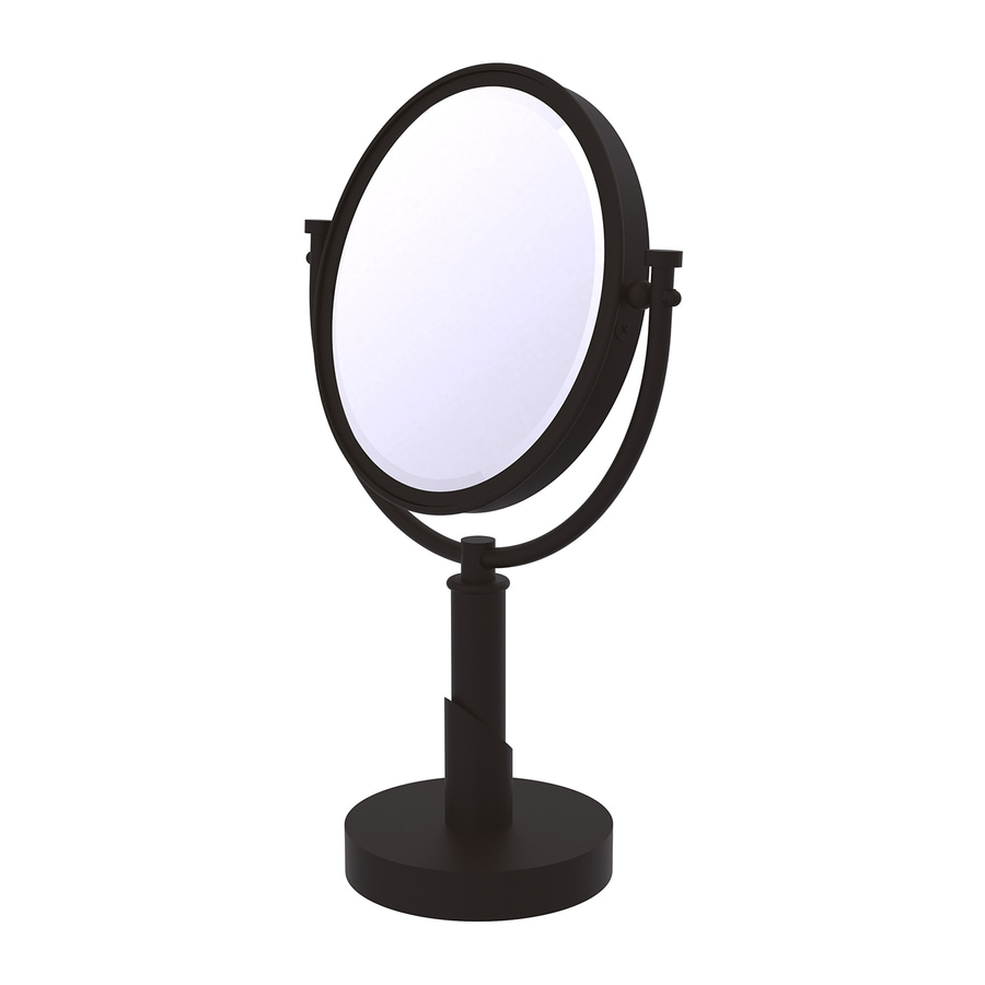 Allied Brass Tribeca Bronze Brass Magnifying Countertop Vanity Mirror