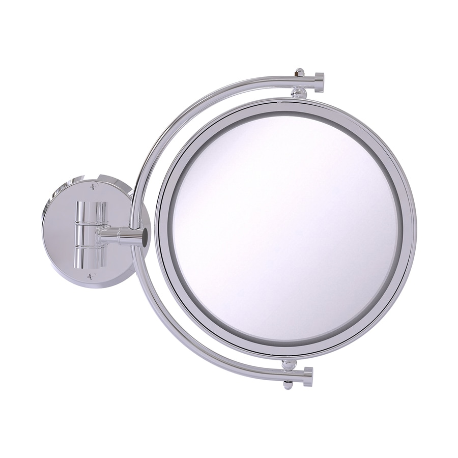 Allied Brass Chrome Brass Magnifying Wall-Mounted Vanity Mirror Cabinet Pull