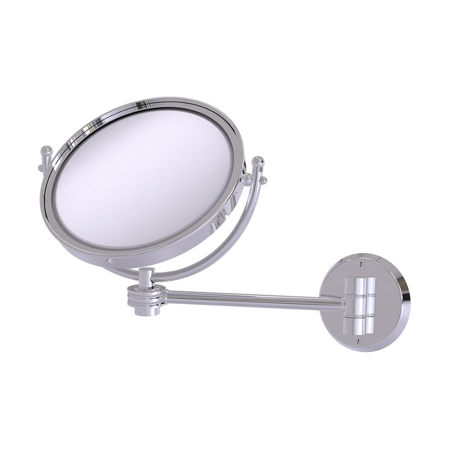 Allied Brass Chrome Brass Magnifying Wall-Mounted Vanity Mirror
