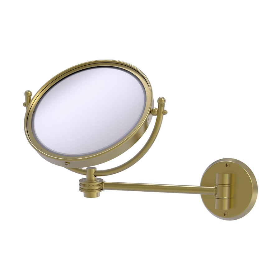 Shop Allied Brass Brass Brass Magnifying Wall-Mounted Vanity Mirror ...