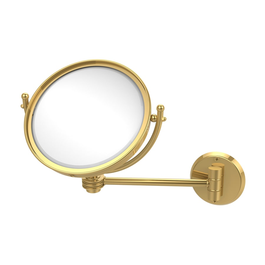 Allied Brass Polished Brass Magnifying Wall-Mounted Vanity Mirror