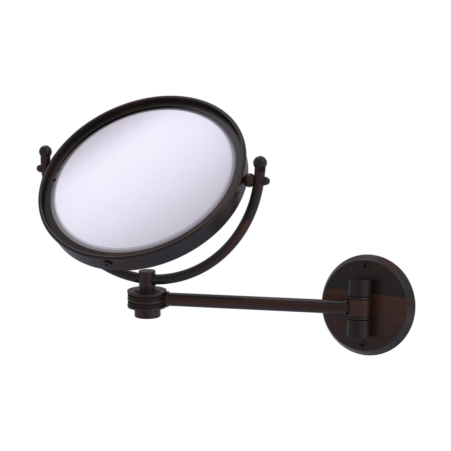 Shop Allied Brass Bronze Brass Magnifying Wall Mounted Vanity Mirror At