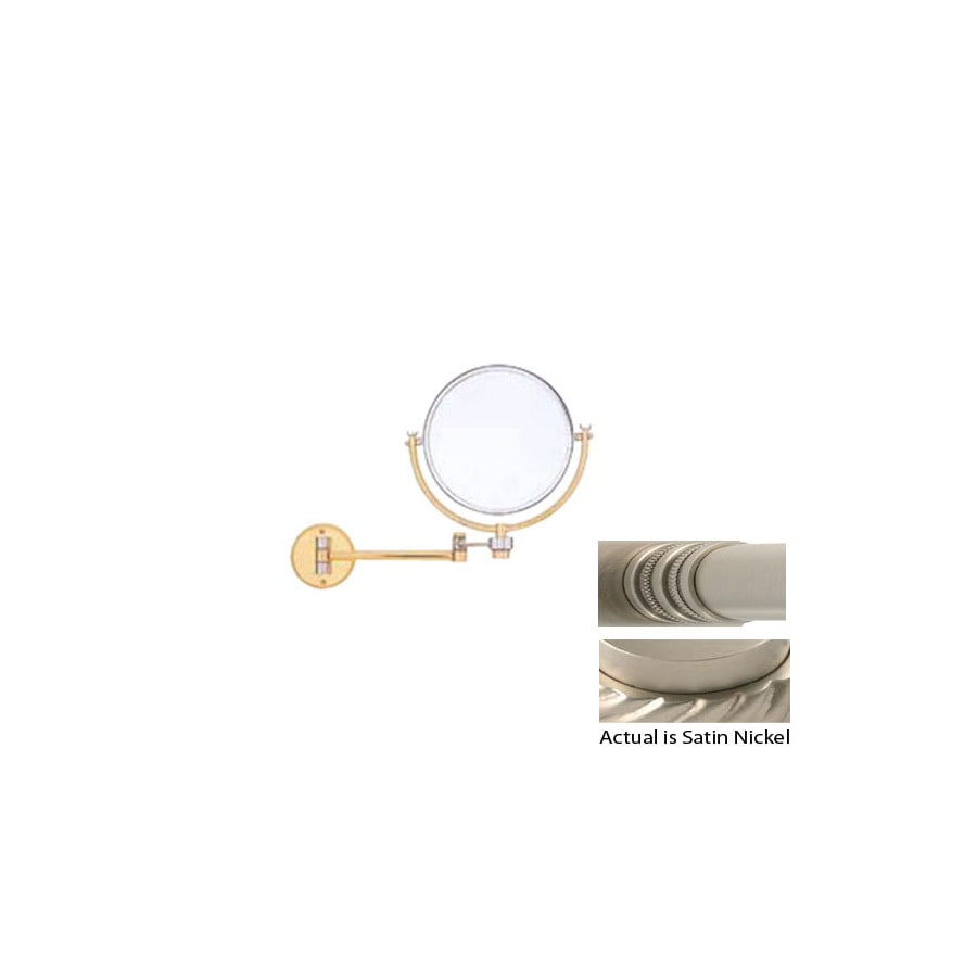 Allied Brass Nickel Brass Magnifying Wall-Mounted Vanity Mirror