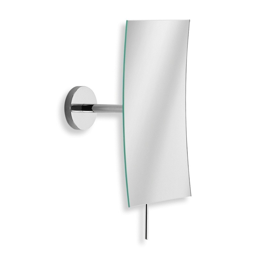 Shop ws bath collections mirror pure 4 7 in x 8 1 in polished chrome rectangular frameless Polished chrome bathroom mirrors