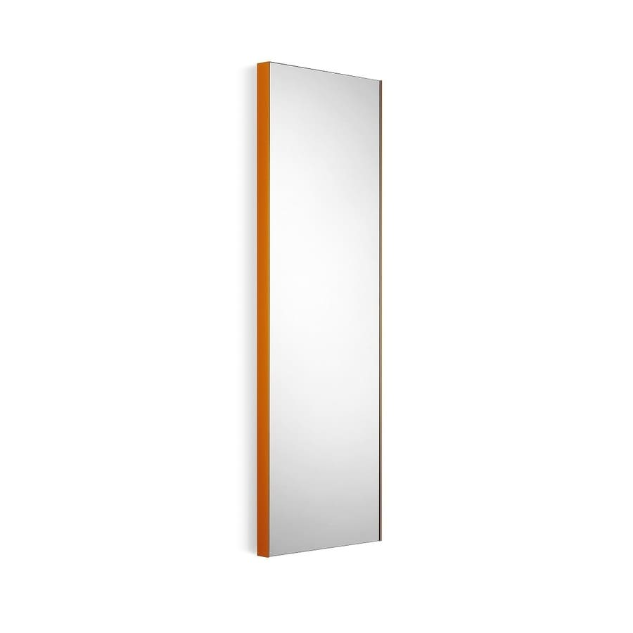 WS Bath Collections Linea 12.8-in W x 39.4-in H Orange Rectangular Bathroom Mirror