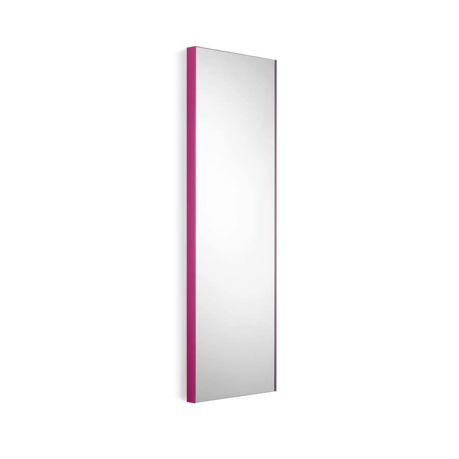 WS Bath Collections Linea 12.8-in W x 39.4-in H Pink Rectangular Bathroom Mirror