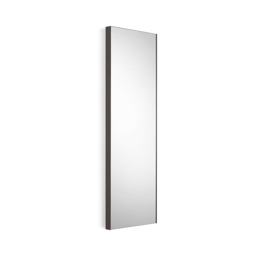 WS Bath Collections Linea 12.8-in W x 39.4-in H Dark Grey Rectangular Bathroom Mirror