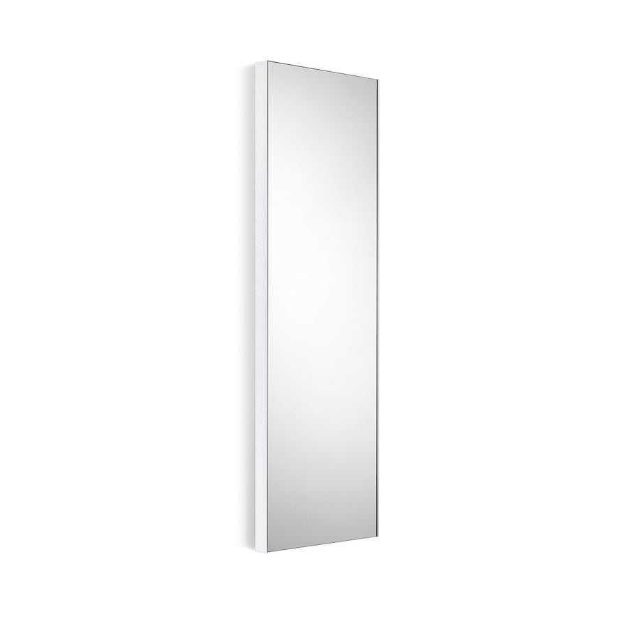 WS Bath Collections Linea 17.5-in x 39.4-in White Rectangular Frameless Bathroom Mirror