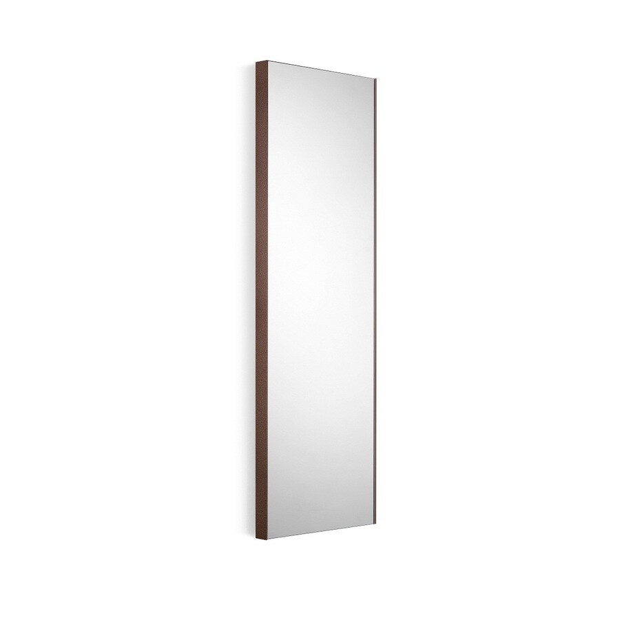 WS Bath Collections Linea 17.5-in W x 39.4-in H Rust Rectangular Bathroom Mirror