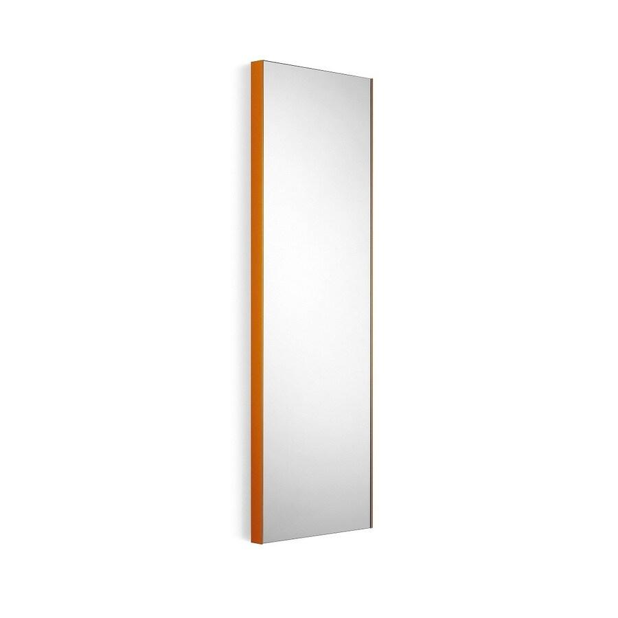 WS Bath Collections Linea 17.5-in W x 39.4-in H Orange Rectangular Bathroom Mirror
