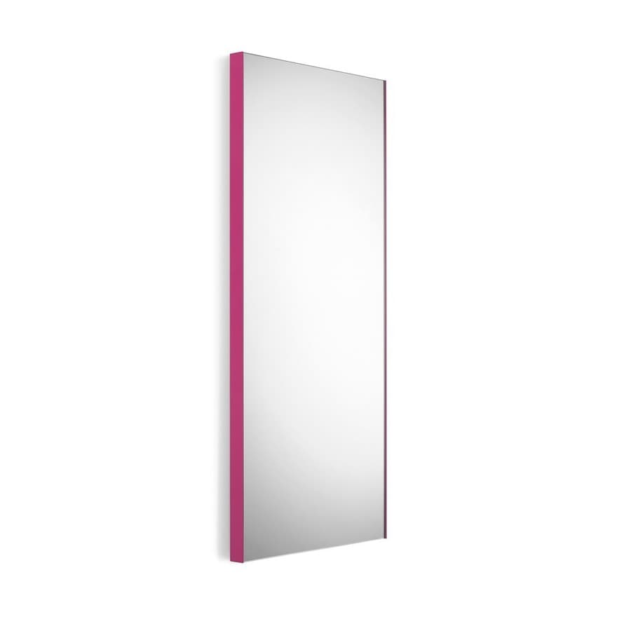WS Bath Collections Linea 17.5-in W x 39.4-in H Pink Rectangular Bathroom Mirror