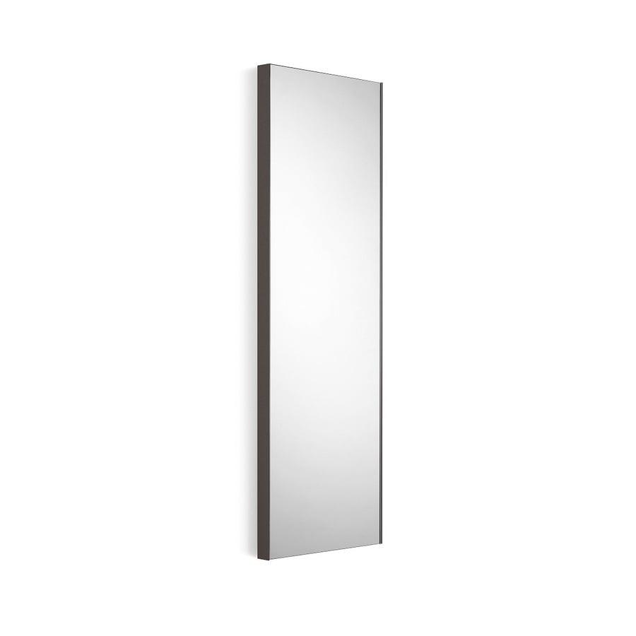Shop ws bath collections linea 17 5 in x 39 4 in dark grey for Frameless rectangular bathroom mirror
