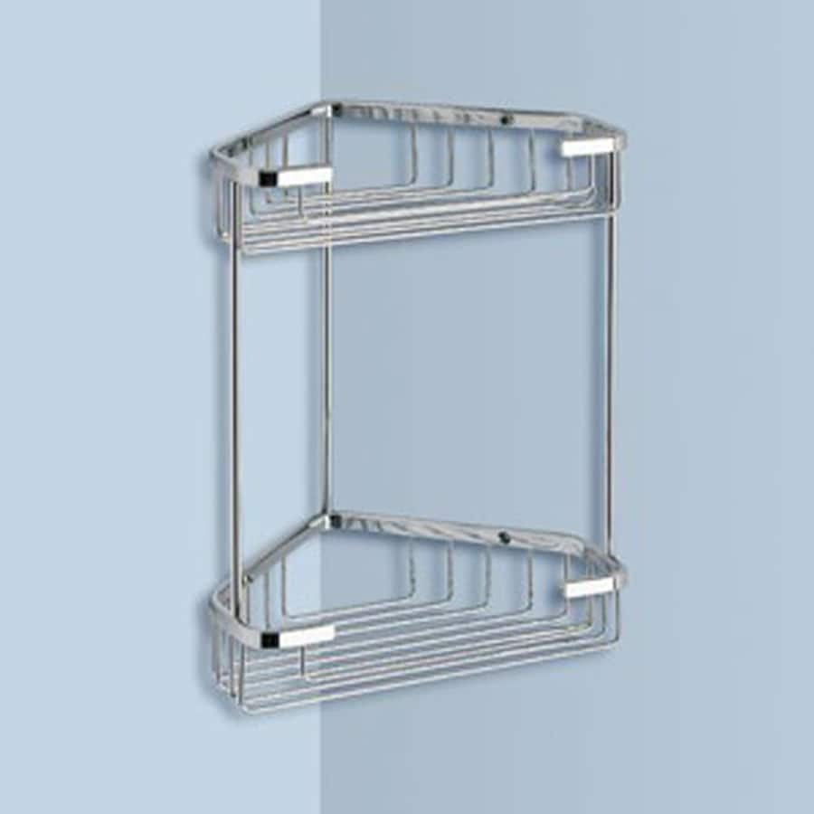 Shop Nameeks Gedy Wire 2-Tier Chrome Brass Bathroom Shelf at Lowes.com