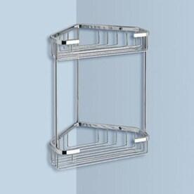 nameeks gedy wire 2tier chrome brass bathroom shelf - Corner Bathroom Shelf