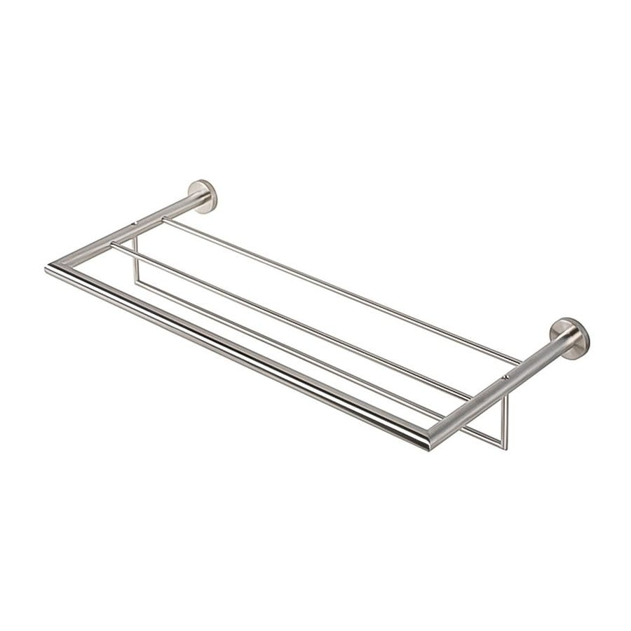 Nameeks Nemox Stainless Steel Brushed Nickel Stainless Steel Bathroom Shelf