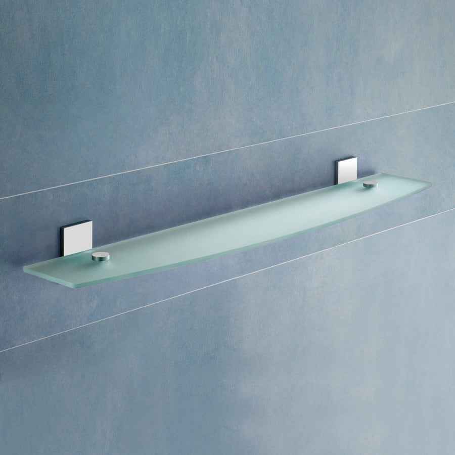Nameeks Gedy Chrome Glass Bathroom Shelf