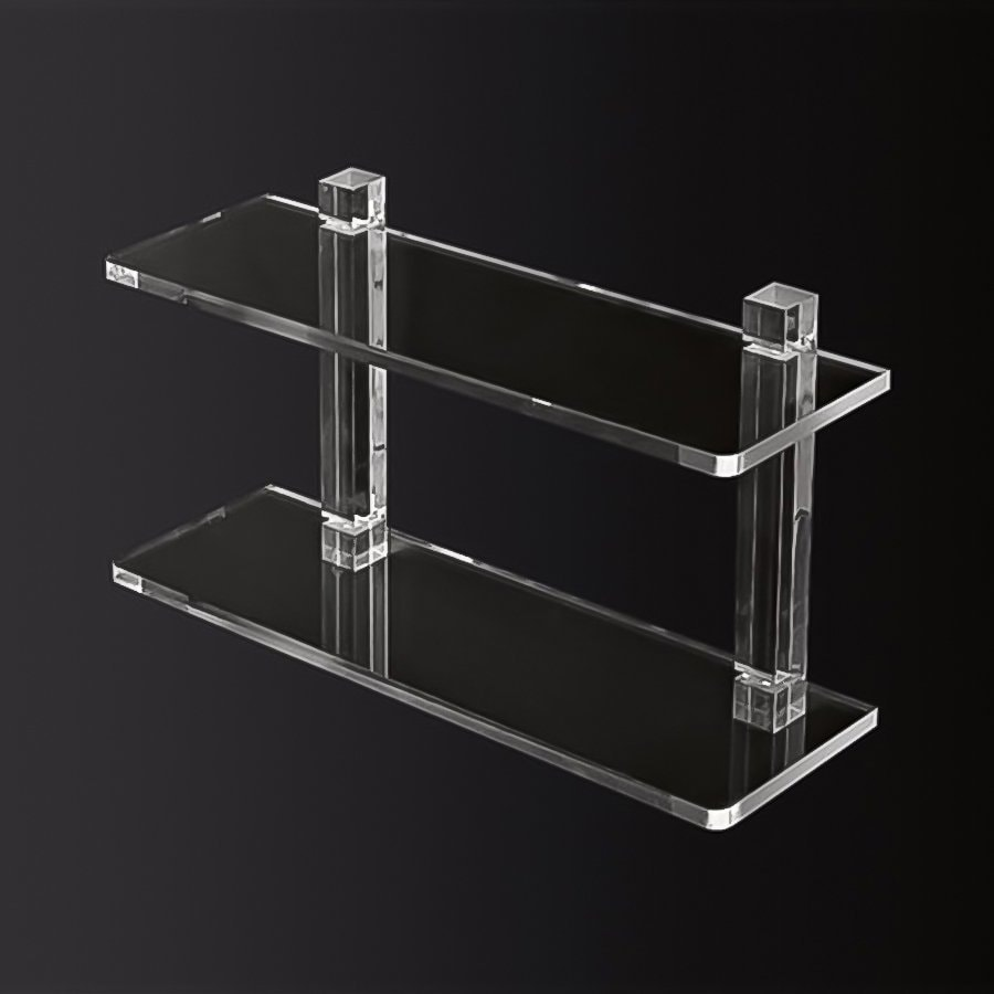 Nameeks Luce 2-Tier Transparent Plastic Bathroom Shelf