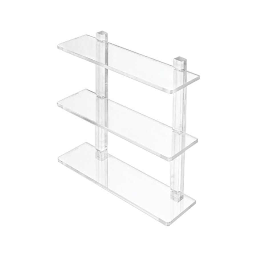 Nameeks Luce 3-Tier Transparent Plastic Bathroom Shelf