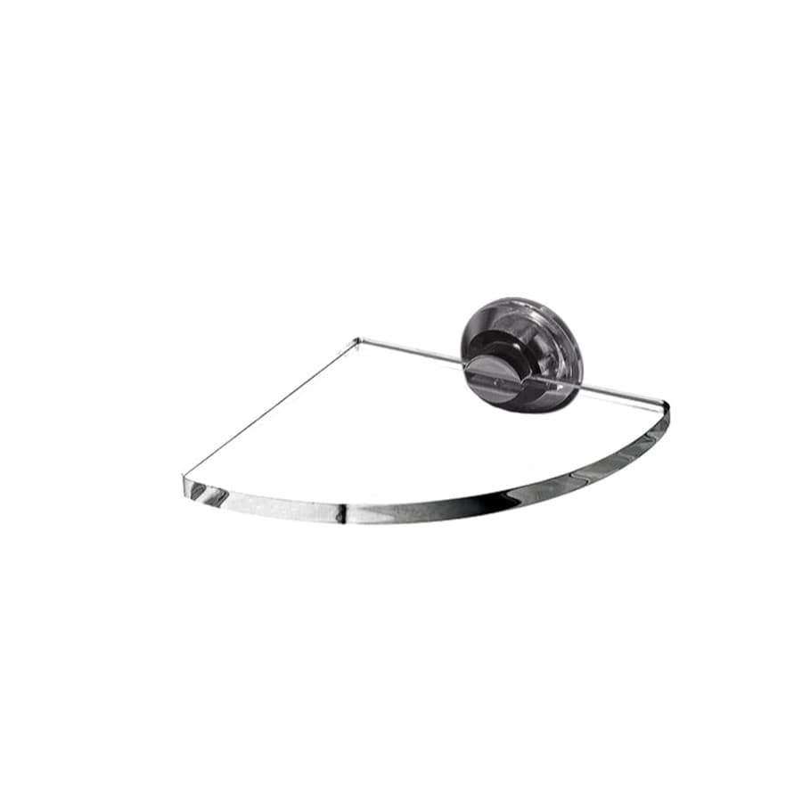 Nameeks Luce Chrome/Transparent Plastic Bathroom Shelf