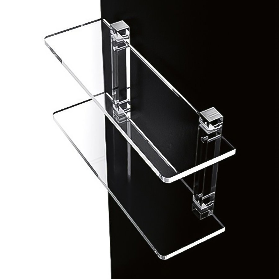 Nameeks Orchidea 2-Tier Transparent Plastic Bathroom Shelf