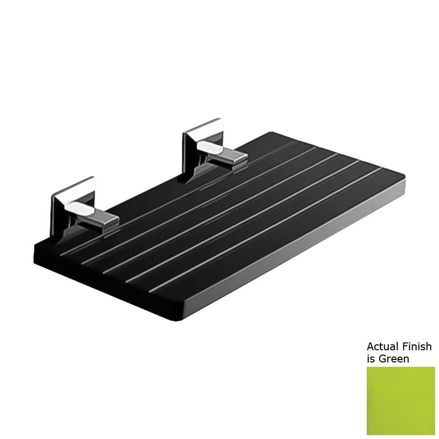 Nameeks Grip Chrome/Green Plastic Bathroom Shelf