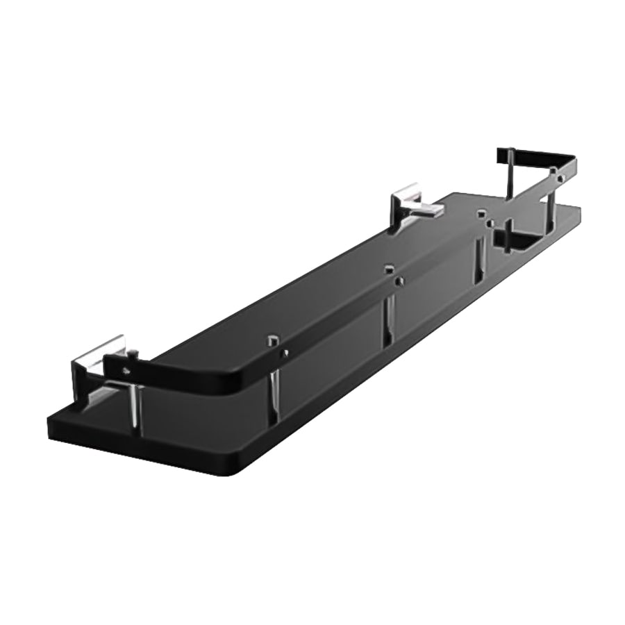 Nameeks Grip Chrome/Black Plastic Bathroom Shelf