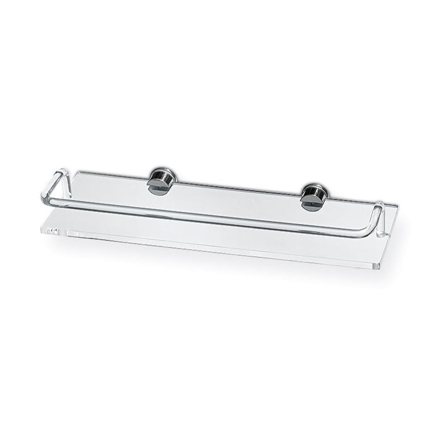 Nameeks Giglio Chrome/Transparent Plastic Bathroom Shelf