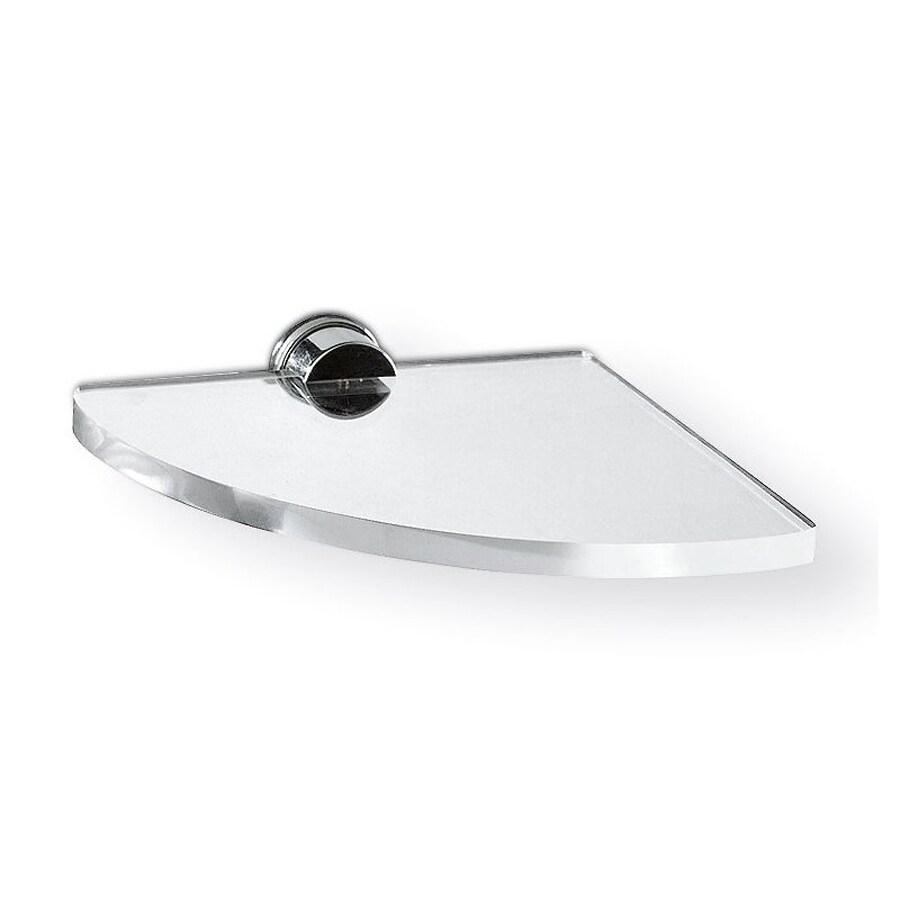 Nameeks Giglio Chrome/Transparent Plastic Bathroom Shelf
