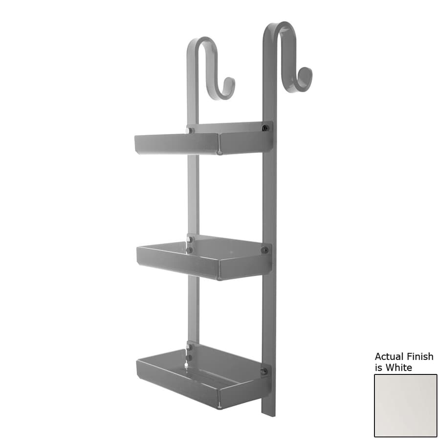 Nameeks Trasparenze 3-Tier Chrome/White Plastic Bathroom Shelf
