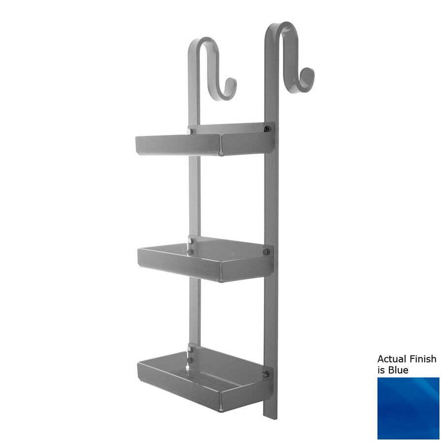 Nameeks Trasparenze 3-Tier Chrome/Blue Plastic Bathroom Shelf