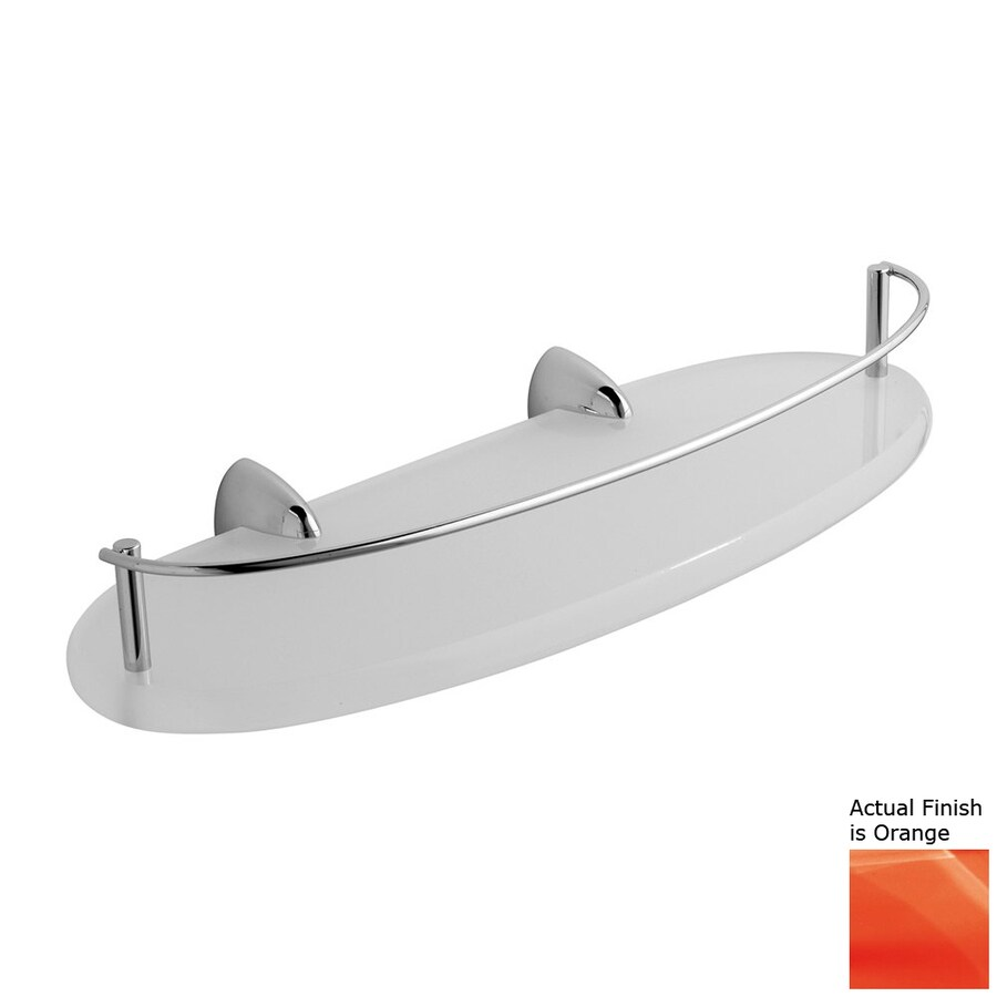 Nameeks Kor Chrome/Orange Plastic Bathroom Shelf