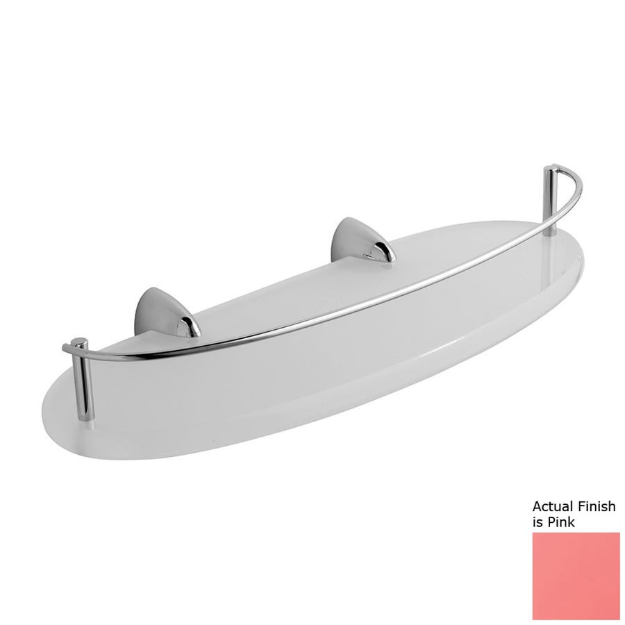 Nameeks Kor Chrome/Pink Plastic Bathroom Shelf