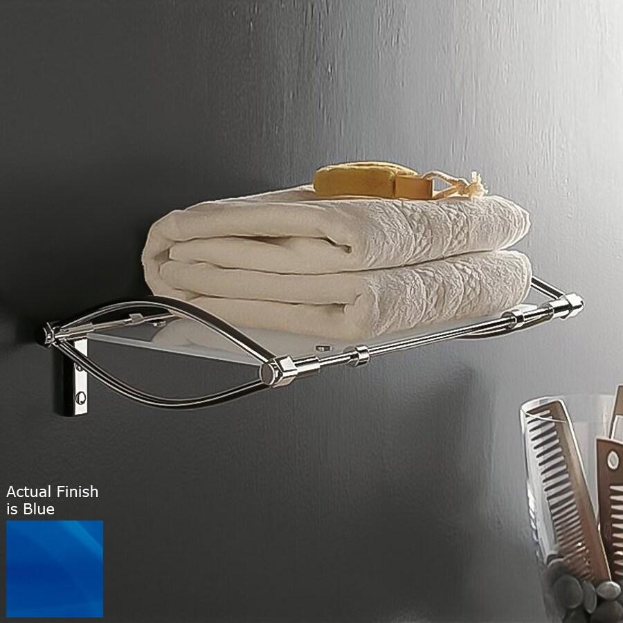 Nameeks Kor Chrome/Blue Plastic Bathroom Shelf