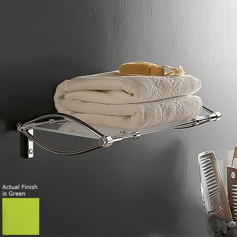 Nameeks Kor Chrome/Green Plastic Bathroom Shelf