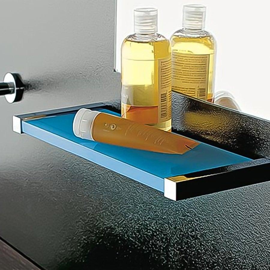 Nameeks Eden Chrome/Blue Plastic Bathroom Shelf