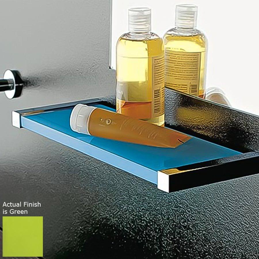 Nameeks Eden Chrome/Green Plastic Bathroom Shelf