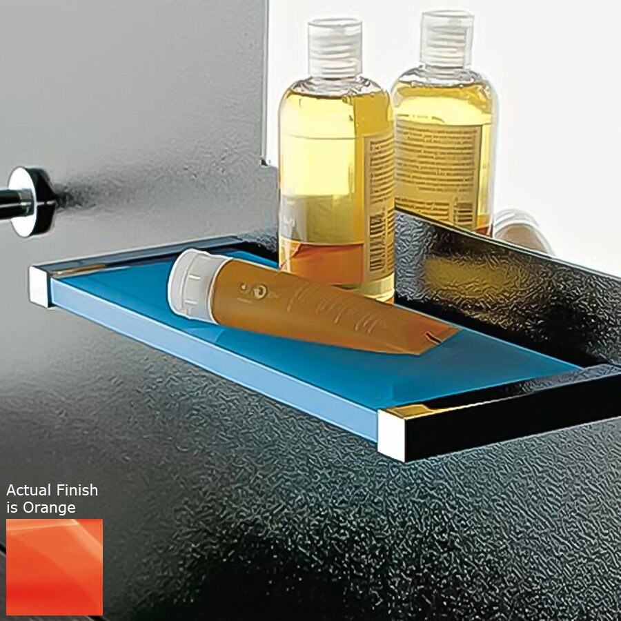 Nameeks Eden Chrome/Orange Plastic Bathroom Shelf