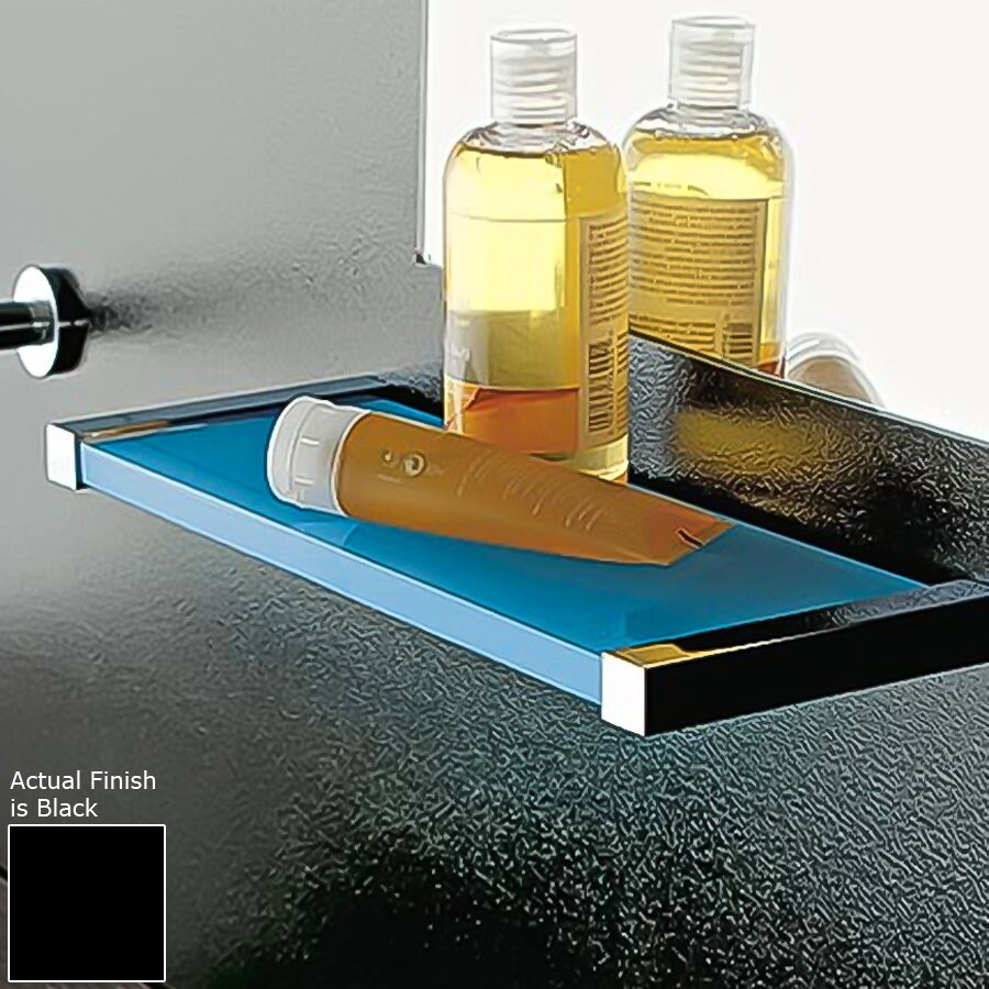 Nameeks Eden Chrome/Black Plastic Bathroom Shelf