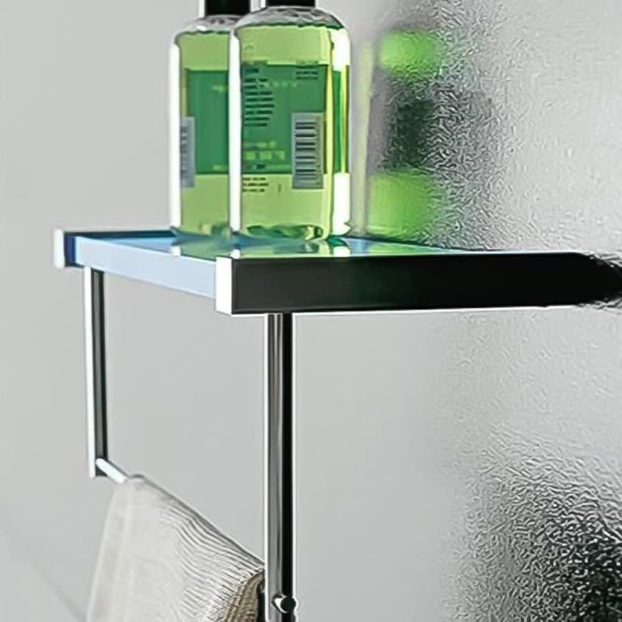 Nameeks Eden Chrome/Light Blue Plastic Bathroom Shelf