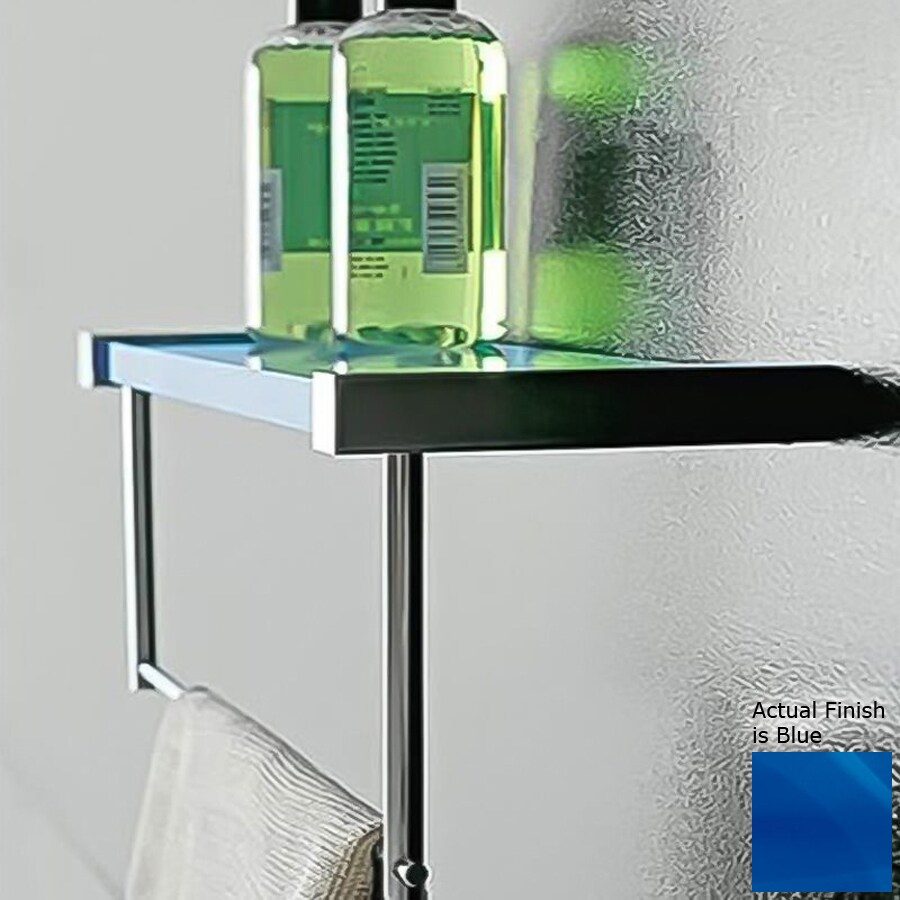 Nameeks Eden Chrome/Blue Plastic Bathroom Shelf