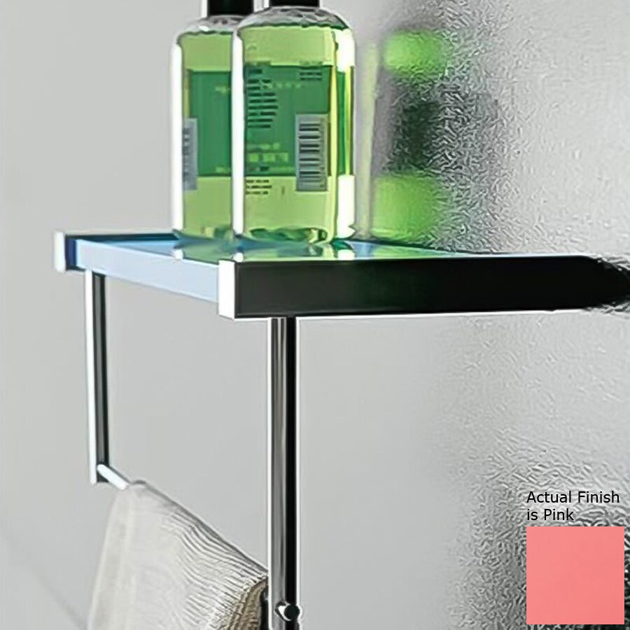 Nameeks Eden Chrome/Pink Plastic Bathroom Shelf