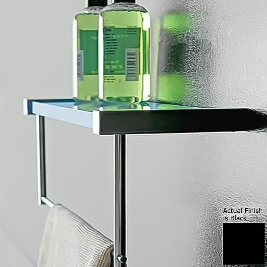 Nameeks Eden Chrome/Black Plastic Bathroom Shelf
