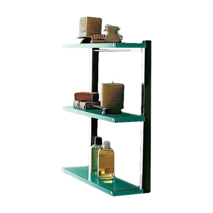 Nameeks Eden 3-Tier Chrome/Green Plastic Bathroom Shelf