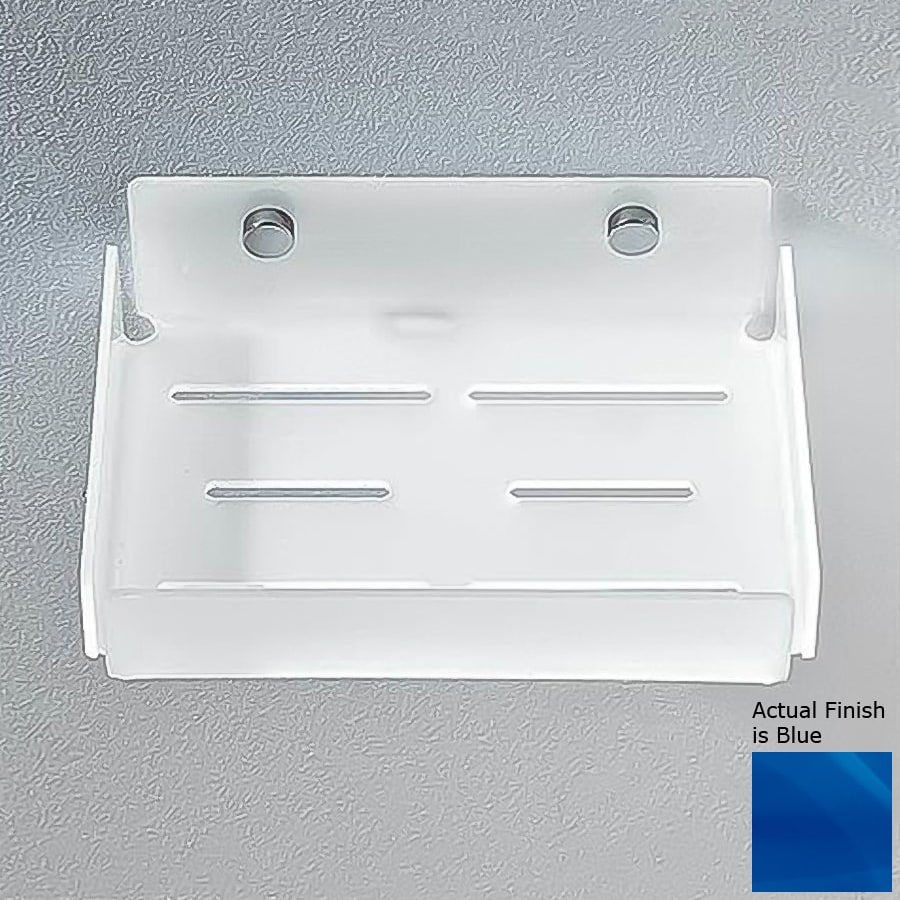 Nameeks Corner Chrome/Blue Plastic Bathroom Shelf